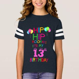 Camisa adolescente do partido da equipe do feliz