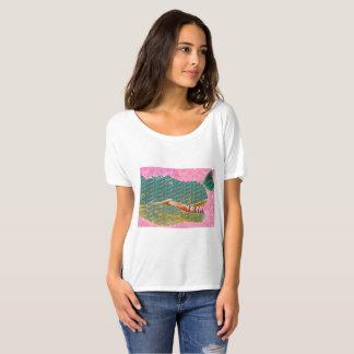 Camisa adorável da arte do dinossauro e da