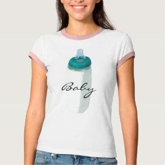 camisa adulta do design da garrafa de bebê do pop