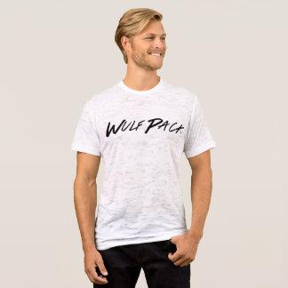 Camisa afligida do bloco do Wulf dos homens