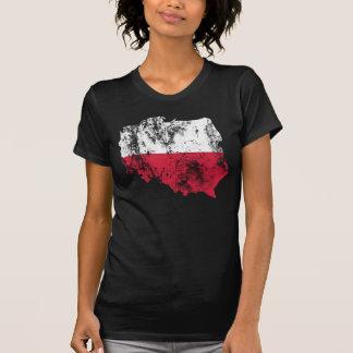 Camisa afligida Polônia Camiseta