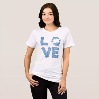 Camisa afligida vintage do t-shirt dos golfinhos