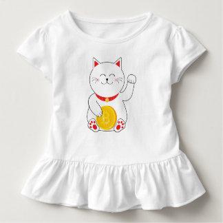 Camisa afortunada da criança de Bitcoin do gato de