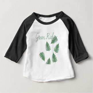Camisa afortunada da luva do bebê 3/4 da samambaia