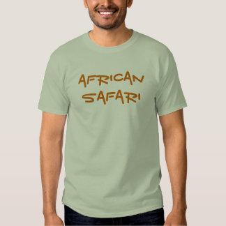 Camisa africana do cinza do safari t-shirts