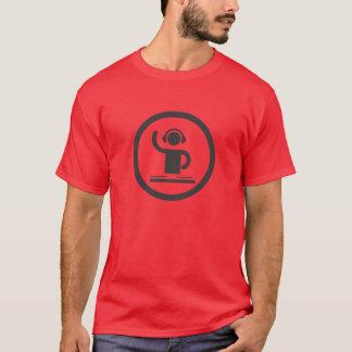 Camisa agradável do ícone do DJ do auscultadores