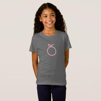 Camisa alaranjada cor-de-rosa simples do ícone