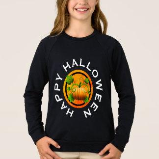 Camisa alaranjada do Dia das Bruxas da abóbora