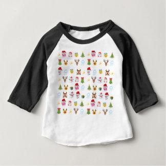 Camisa alegre de Emoji do azevinho