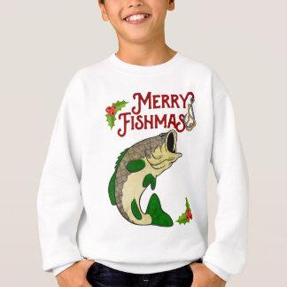 Camisa alegre do Natal da pesca de Fishmas