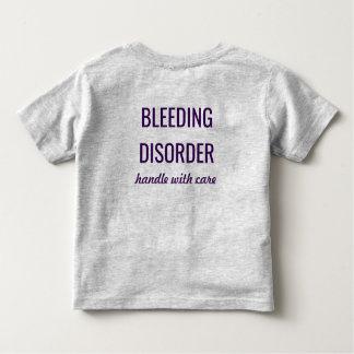 Camisa alerta médica da desordem do sangramento