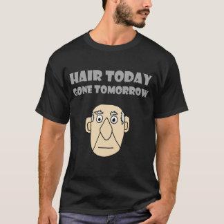 Camisa amanhã hoje ida calva engraçada do cabelo