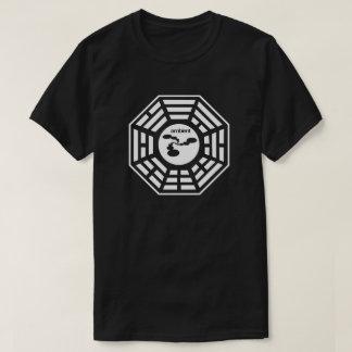 Camisa ambiental do preto do logotipo de Bagua das