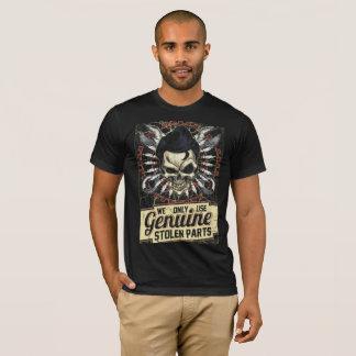Camisa americana do roupa com o esqueleto da loja