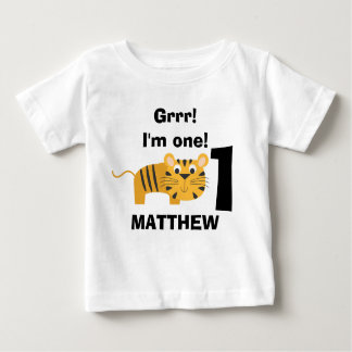 Camisa animal do aniversário do tigre do safari camisetas