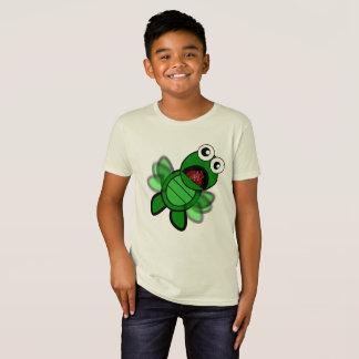 Camisa animal engraçada da tartaruga dos desenhos