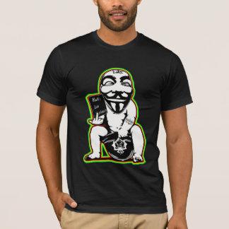 Camisa anónima dos grafites t dos direitos comuns