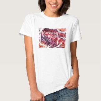 Camisa artística de confecção de malhas do floco camiseta