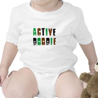 Camisa ativa do bebê de Doodie Macacãozinho Para Bebê