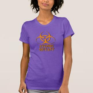 Camisa atômica do mutante com símbolo do biohazard