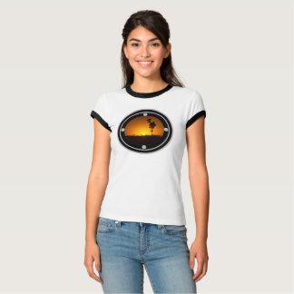 Camisa australiana do por do sol do interior