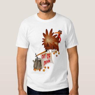 Camisa avariada da acção de graças camisetas