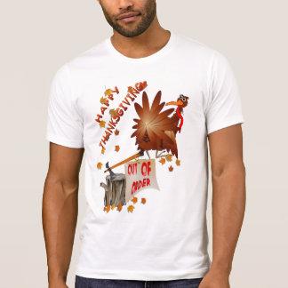 Camisa avariada feliz da acção de graças t-shirt