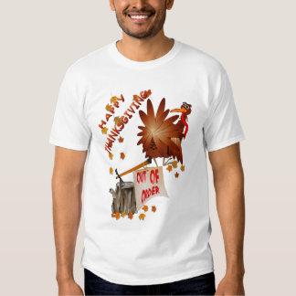 Camisa avariada feliz da acção de graças t-shirts