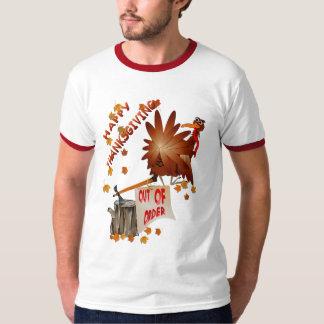 Camisa avariada feliz da acção de graças tshirts