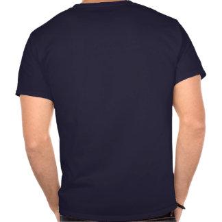 Camisa azul & branca de Pericles da coruja do símb Tshirts