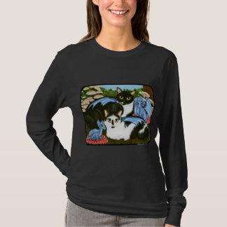 Camisa azul da fantasia dos cogumelos dos dragões