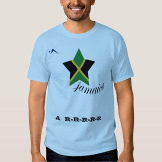 Camisa azul de Jamaica A-R-R T Tshirt