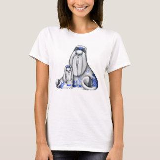 Camisa azul de Shih Tzus do salgueiro