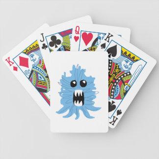 Camisa azul do bebê do monstro baralhos de pôquer