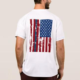 Camisa azul do Dia da Independência T da matéria