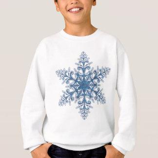 Camisa azul do floco de neve