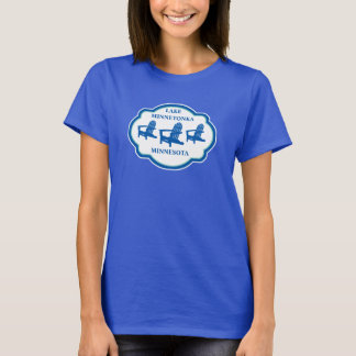 Camisa azul do logotipo da cadeira de Adirondack