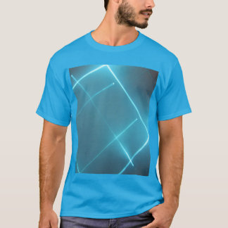 Camisa azul do raio laser T