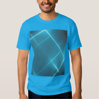 Camisa azul do raio laser T Tshirt