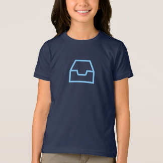 Camisa azul simples do ícone de Inbox