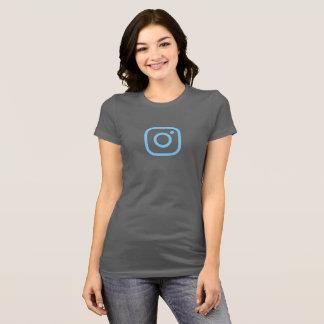 Camisa azul simples do ícone de Instagram