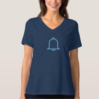 Camisa azul simples do ícone de Motification