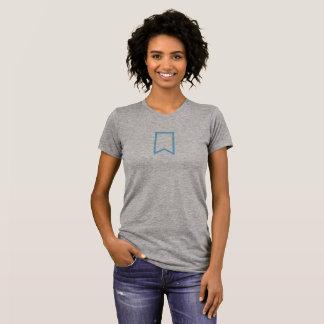 Camisa azul simples do ícone do marcador