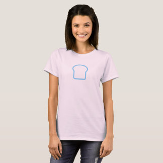 Camisa azul simples do ícone do naco