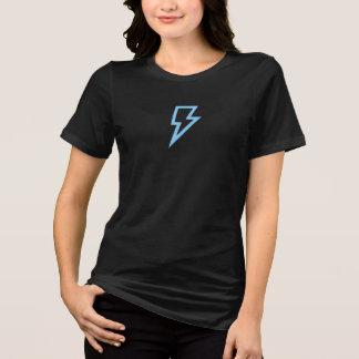 Camisa azul simples do ícone do relâmpago