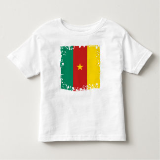 Camisa bandeira de República dos Camarões do bebê,