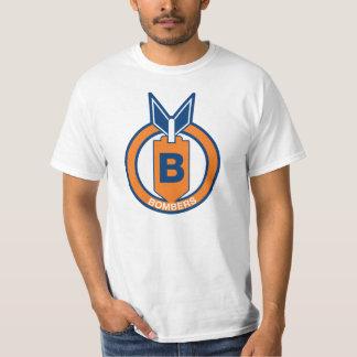 Camisa básica do logotipo dos bombardeiros de camiseta