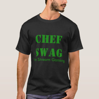 Camisa básica do preto T dos ganhos do cozinheiro