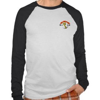 Camisa Básica Raglan -Troça A cabeça do Pistão Tshirt