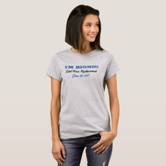 (Camisa Bionic da substituição do joelho) Camiseta